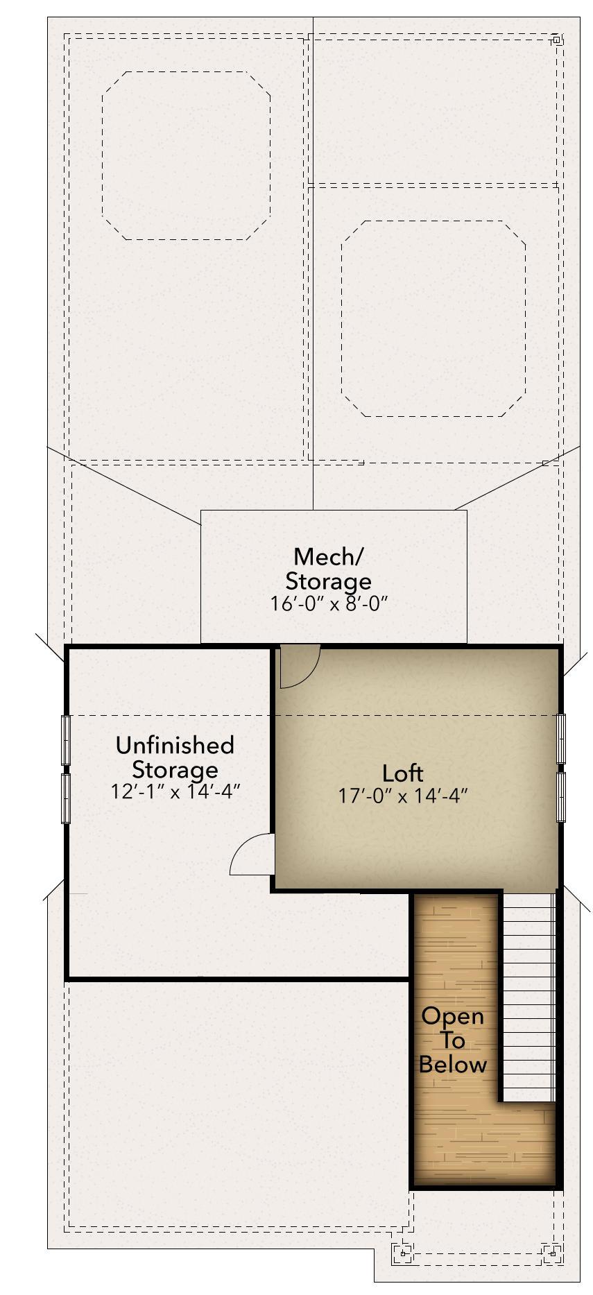 Optional second floor