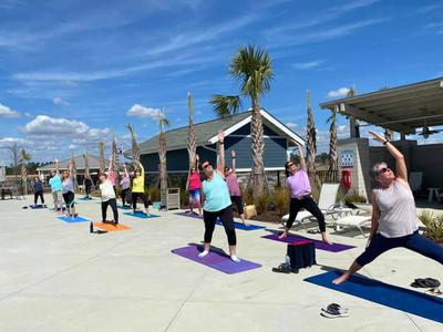 Namaste-Outdoor Yoga Class